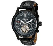 Armbanduhr für Herren mit Analog Anzeige, Automatik-Uhr und Lederarmband - Wasserdichte Herrenuhr mit zeitlosem, schickem Design - klassische Uhr für Männer - BM330-622 Malabo