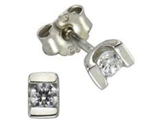 Damen-Ohrstecker Gold Edition 375 Weißgold Zirkonia Rundschliff weiß - 371320742WG-2