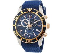Nautica Herren-Armbanduhr Chronograph Quarz Leder NAI16502G