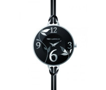 A0524RNAN Ted Lapidus Damen-Armbanduhr Anastasie Quarz analog Leder Schwarz