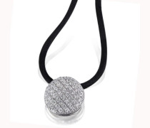 Damen-Halskette 925 Sterlingsilber 66 weiße Zirkonia Kettenanhänger Schmuck