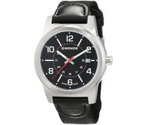 WENGER Herren-Armbanduhr Analog Quarz Leder 01.0441.164