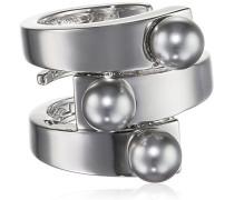 Damen-Ring Trilogy Vergoldet rhodiniert Perle Synthetische Perle Grau Ringgröße verstellbar - BTRABB04