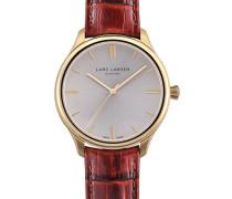 Lars-Larsen 120GBCL Herren-Armbanduhr Analog Leder Braun