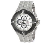 Pro Diver Chronograph Armbanduhr Men's on Silber Edelstahl Armband 12366