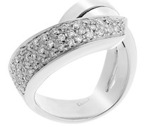 Damen-Ring 18 Karat (750) Weigold 48 Diamanten 0.48 Carat