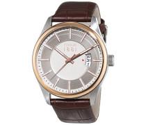 Cerruti 1881 Herren-Armbanduhr PALINURO Analog Quarz Leder CRA127STR20BR