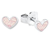 Prinzessin Lillifee Kinder-Ohrstecker Herzen Mädchen 925 Silber rhodiniert Emaille rosa