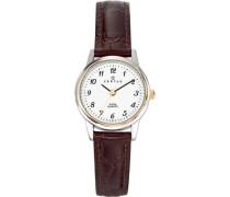 Damen-Armbanduhr Analog Leder braun 645314