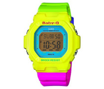 Baby-G – Damen-Armbanduhr mit Digital-Display und Resin-Armband – BG-5607-9ER