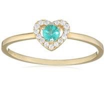 Ring 9 Karat (375) Gelbgold Smaragd-badm 07030-0001