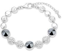 Damen-Armband 16+4 cm längenverstellbar Swarovski Elements rhodiniert Kristall weiß - 9135615