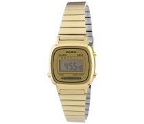 Collection – Damen-Armbanduhr mit Digital-Display und Edelstahlarmband – LA670WEGA-9EF