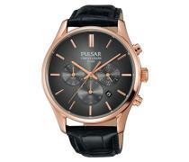 Pulsar Herren-Armbanduhr Chronograph Quarz Leder PT3782X1