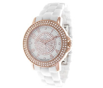 Damen-Armbanduhr Analog Quarz Premium Keramik Diamanten - STM13G409