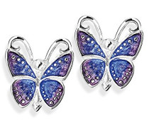 Heartbreaker Damen- Ohrstecker Flying purple Ring 925 Silber Brandlack- LD FP 21