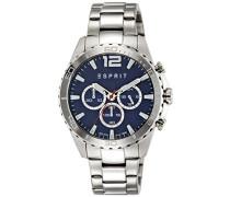 Herren-Armbanduhr Chronograph Quarz Edelstahl ES108351005