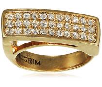 Jewelry Damen-Ring Messing  Damen-Ring aus der Serie Big rings vergoldet,weiß  0.7 cm 271332004