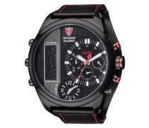 Herren-Armbanduhr Palermo Analog - Digital Quarz Leder DT2052-A