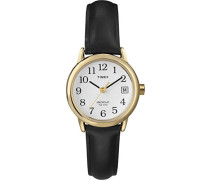 Damen-Armbanduhr Schwarz Leder T2H341D7