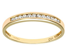 Damen-Ring 9 K Gelbgold P1 Diamant 0,12 ct