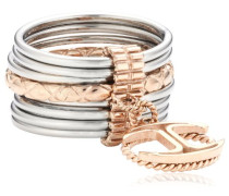 Damen-Ring Edelstahl Kristall Infinity pink SCHX17020
