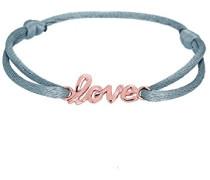 Damen-Armband Love-Schriftzug Liebe 925 Silber Stoff 18 cm - 0201440416_18