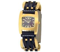 Damen-Armbanduhr Analog Quarz Edelstahl beschichtet M11710-716
