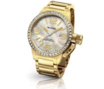 TW Steel Damen-Armbanduhr Canteen Style bracelet Analog Quarz Edelstahl beschichtet TW-310