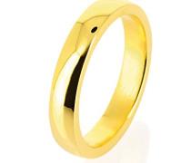 Unisex-Ring style & Ehe-Freundschaftsring 925 Silber teilvergoldet