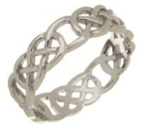 Unisex-Ring Weißgold - Größe 49 (15.6)