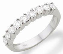 Miore MC206WR Memoire - Diamantring 18 Karat (750) Weißgold mit 9 Brillanten zus.0,50Ct - IGI Zertifikat Größe 58