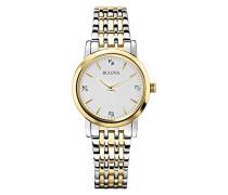 Classic Diamond 98S115 - Damen Designer-Armbanduhr - Edelstahl - Goldfarben