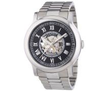 Collection Herren-Armbanduhr Xl Agenor Black Analog Handaufzug Edelstahl