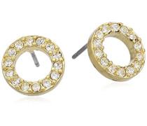 Jewelry Damen-Ohrstecker aus der Serie Classic vergoldet wei 1.0 cm 611312013