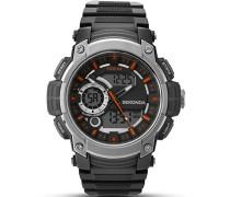 Herren-Armbanduhr Digitaluhr mit schwarzem Zifferblatt Digital Display und schwarz Kunststoff Gurt 1160.05