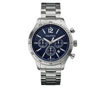 Herren-Armbanduhr XL Chronograph Quarz Edelstahl A17640G
