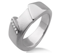 Damen-Ring 925 Sterling-Silber teilweise matt Zirkonia MSM050RO