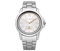 Damen Quarzuhr mit Silber Zifferblatt Analog-Anzeige und Silber Armband LM016