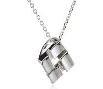 Damen Halskette 925 Sterling Silber rhodiniert Diamant weiß