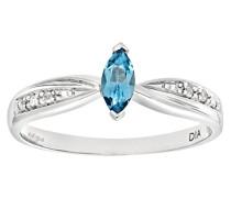 Damen-Ring 9 K 375 Weißgold Diamant