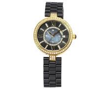 Damen Armbanduhr - Analog Quarz - Premium Keramik Armband - Perlmutt Zifferblatt - Diamanten und Swarovski Elemente - STM15SM6