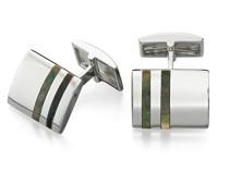 Herren-Anhänger Sterling-Silber 925, Schwarz, für Men'Manschettenknöpfe Perlmutt