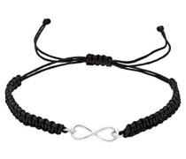 Elli Damen-Strangarmband Textil Infinity Unendlichkeit 925 Sterling Silber 0206112713-18