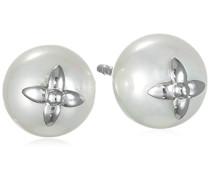 Damen-Ohrstecker Perlenblüte 925 Silber rhodiniert - ERE-PE01-ST