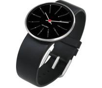 Unisex-Armbanduhr Analog Edelstahl schwarz 43436