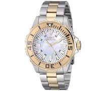 Pro Diver Damen Quarzuhr mit Mutter von Pearl Zifferblatt Analog Display auf Edelstahl-Armband 17694