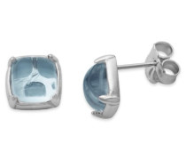 Joy Jewels Damen-Ohrstecker 925 Sterling Silber Blau Topas JA158E