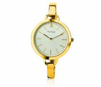 117J522–Trend Damen-Armbanduhr Analog gold Armband Stahl vergoldeter Rahmen