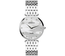 Michel Herbelin Epsilon Midi Bct Women'- Armbanduhr Pearl Dial Analog-Anzeige und Silber-Edelstahl-Armband/B89 17345